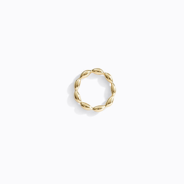 Gold-Tone Bamboo Ring