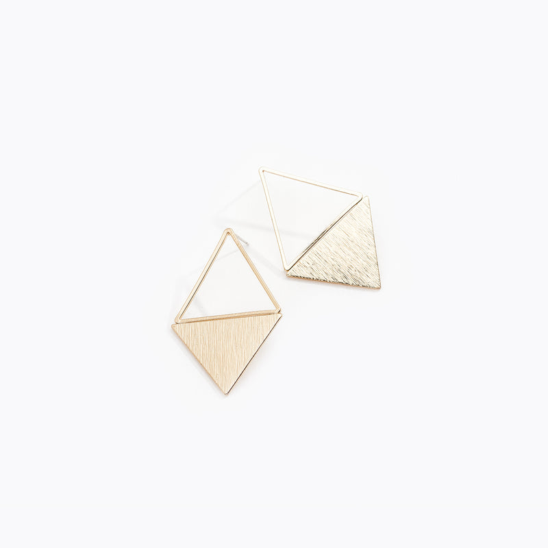 Gold-Tone Reverse Triangular Earrings