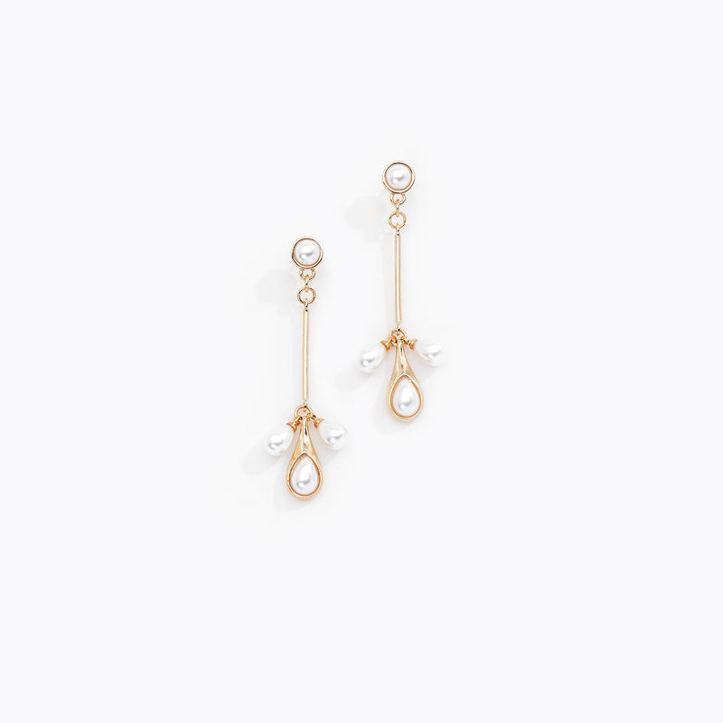 Pearl Drop Chandelier Earrings