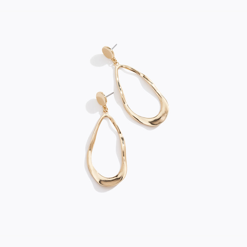 Irregular Hoop Drop Earrings