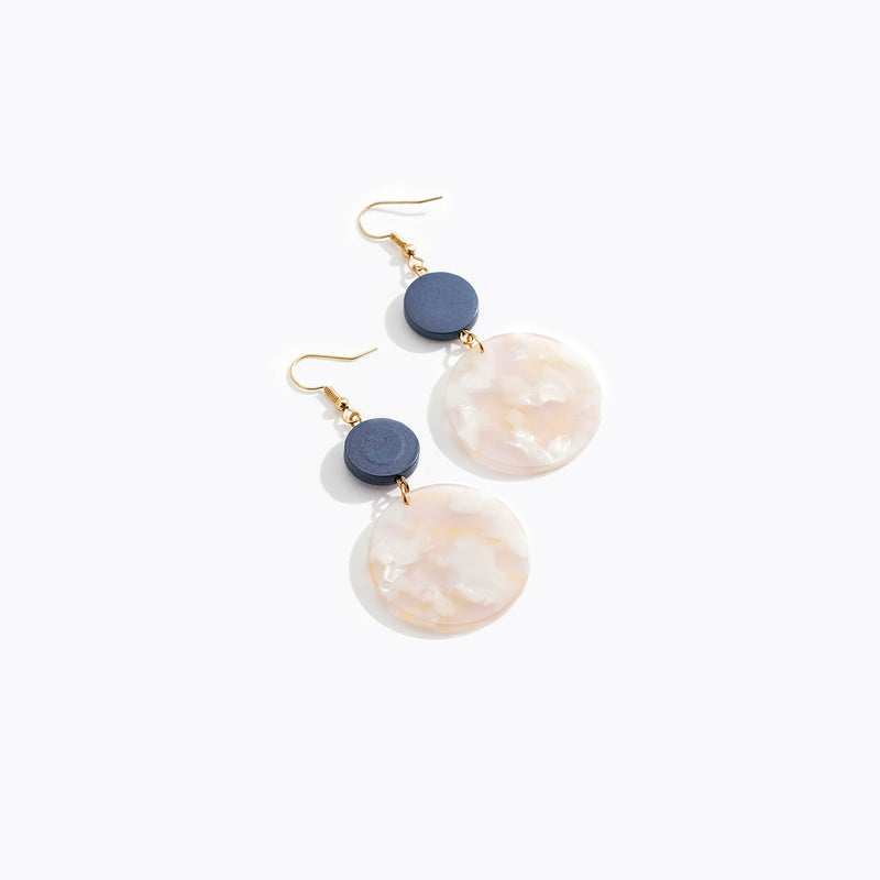 Peach Circular Drop Earrings