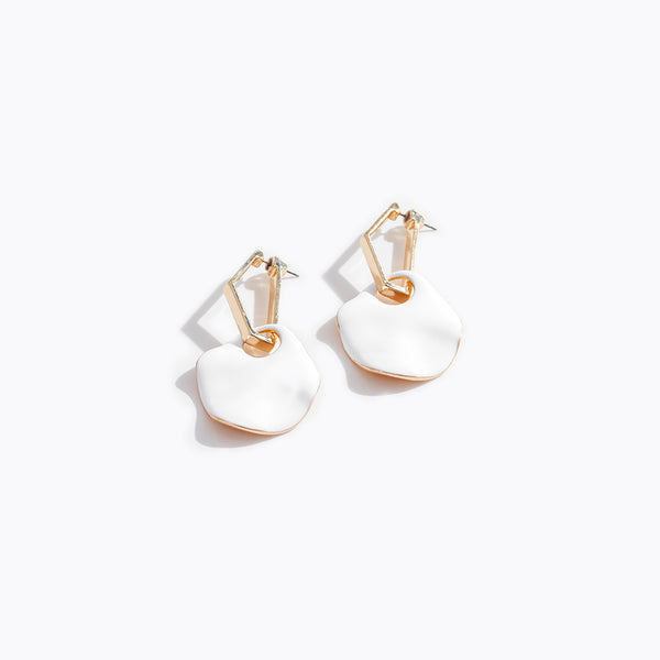 Geometric Shell Earrings