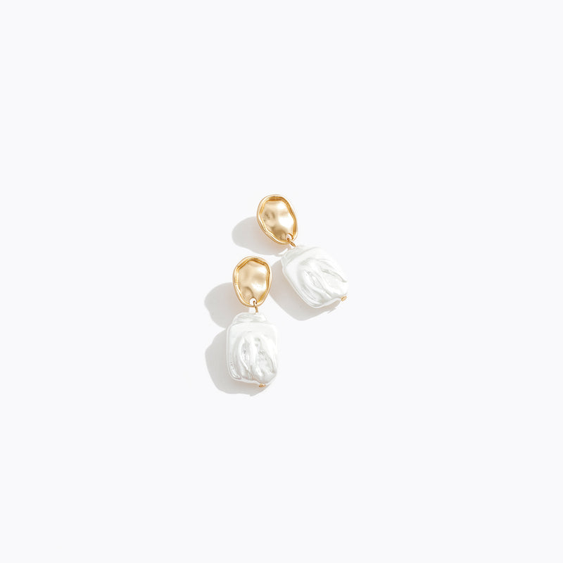 Crushed Pearl Drop Earrings