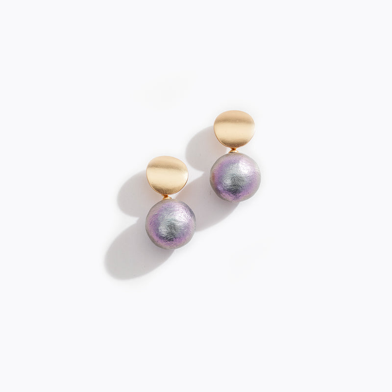 Oil Slick Pearl Drop Earrings