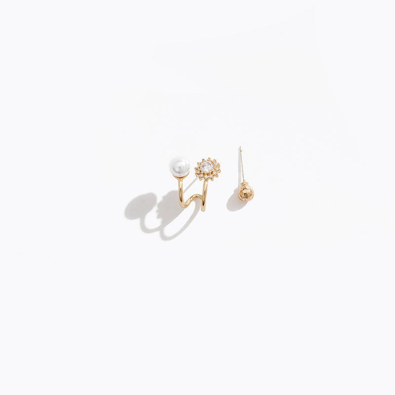 Asymmetric Spiral Stud Earrings