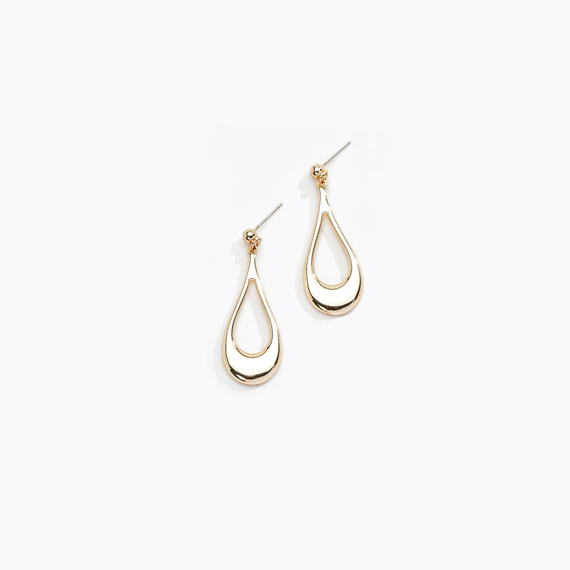 Cut Out Rain Drop Earrings