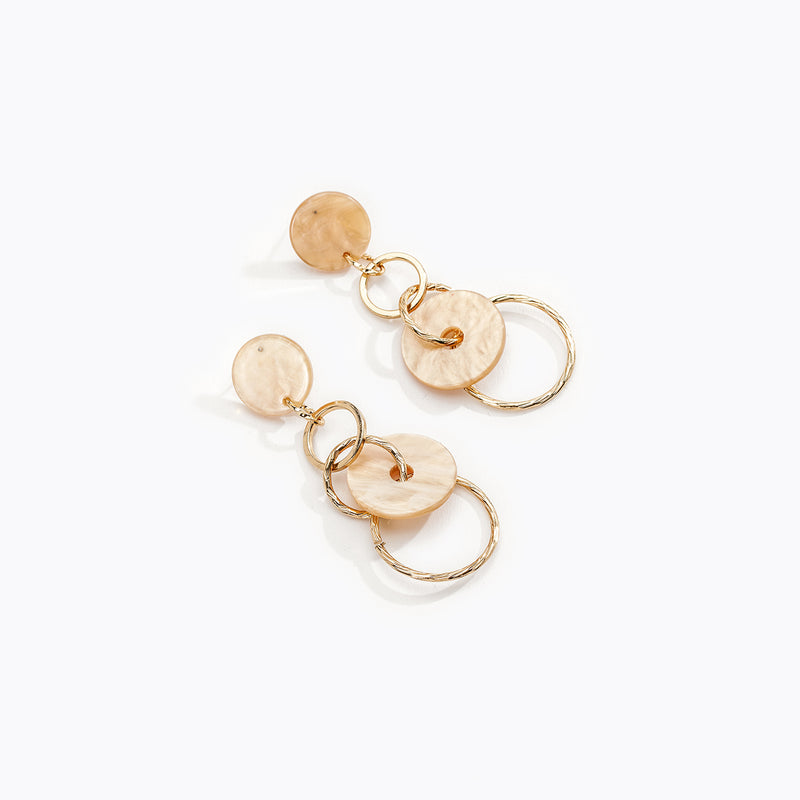 Interlocking Chain Drop Earrings