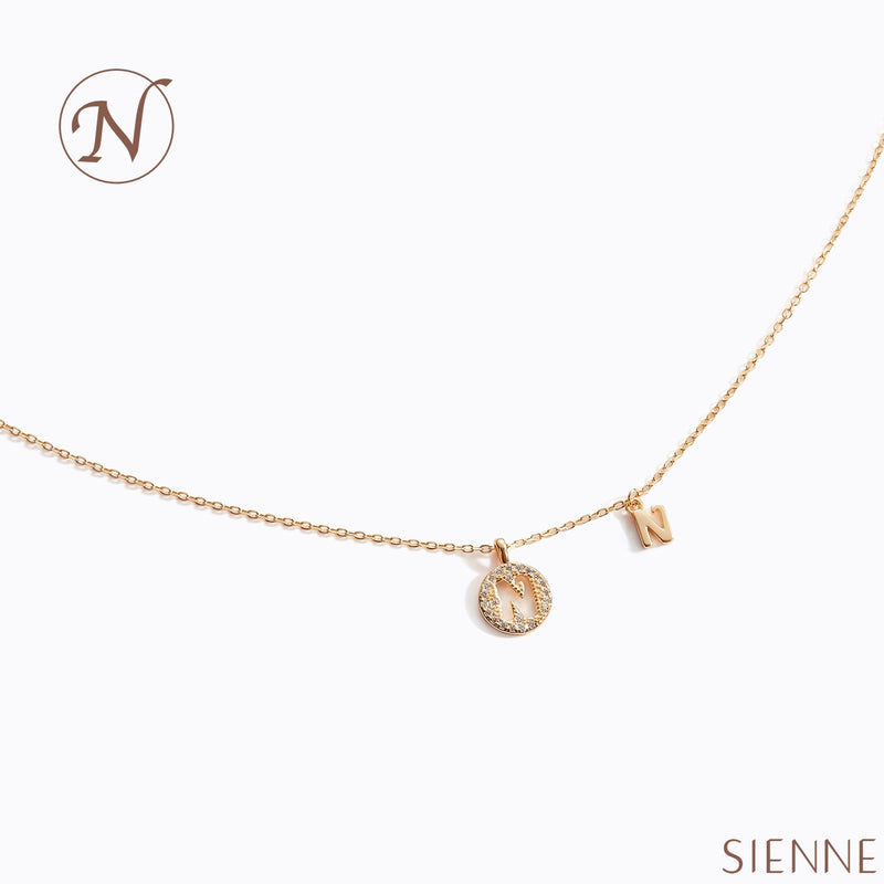 Letter Necklace - (N)