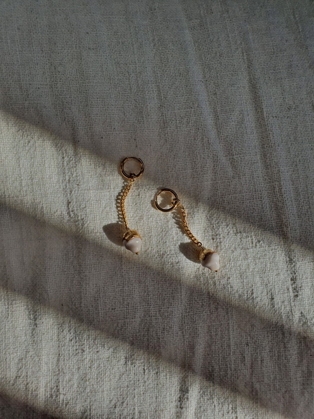 ARI chained hoop earrings