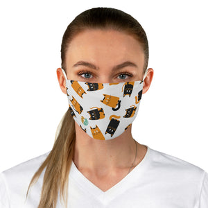 """Many Kitties"" Fabric Face Mask"