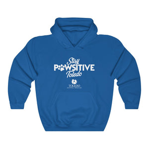 """Stay PAWsitive Toledo"" Unisex Heavy Blend™ Hooded Sweatshirt"