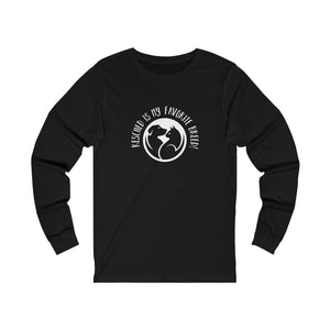 """Rescued Is My Favorite Breed!"" Unisex Jersey Long Sleeve Tee"