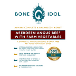 Bone Idol Aberdeen Angus Beef with Farm Vegetables Adult Dog Food