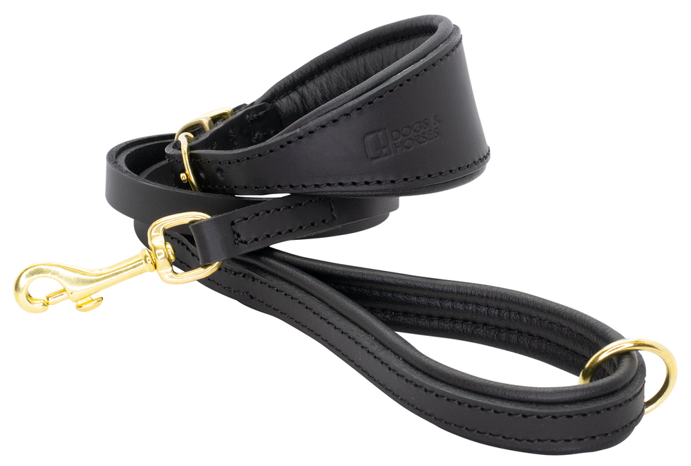 D&H | Padded Leather Hound Collar with Matching Padded Lead