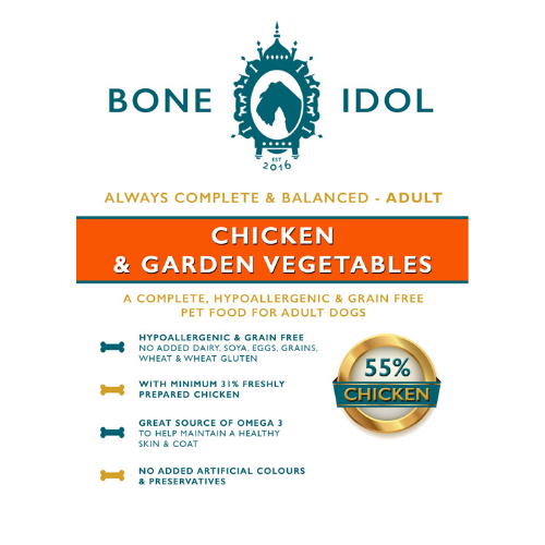 Bone Idol Adult Chicken & Garden Vegetables Dog Food