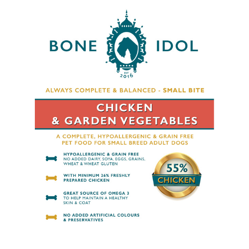Bone Idol Healthy Dog Chicken & Garden Vegetables Dog Food Small Bite