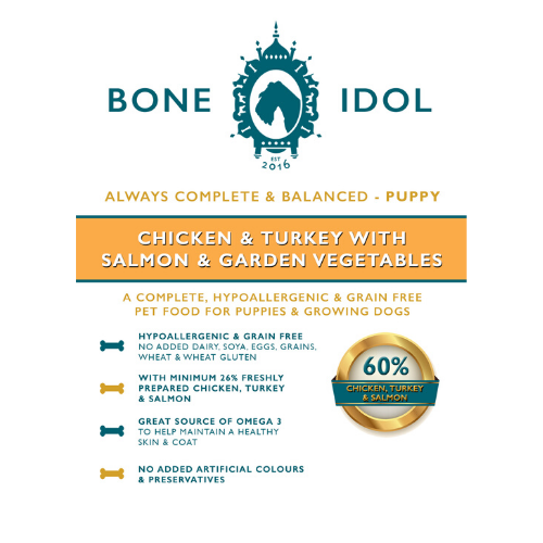 Bone Idol Chicken & Turkey with Salmon & Garden Vegetables Puppy Dog Food