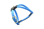 Blue D&H Rolled Leather Dog Harness