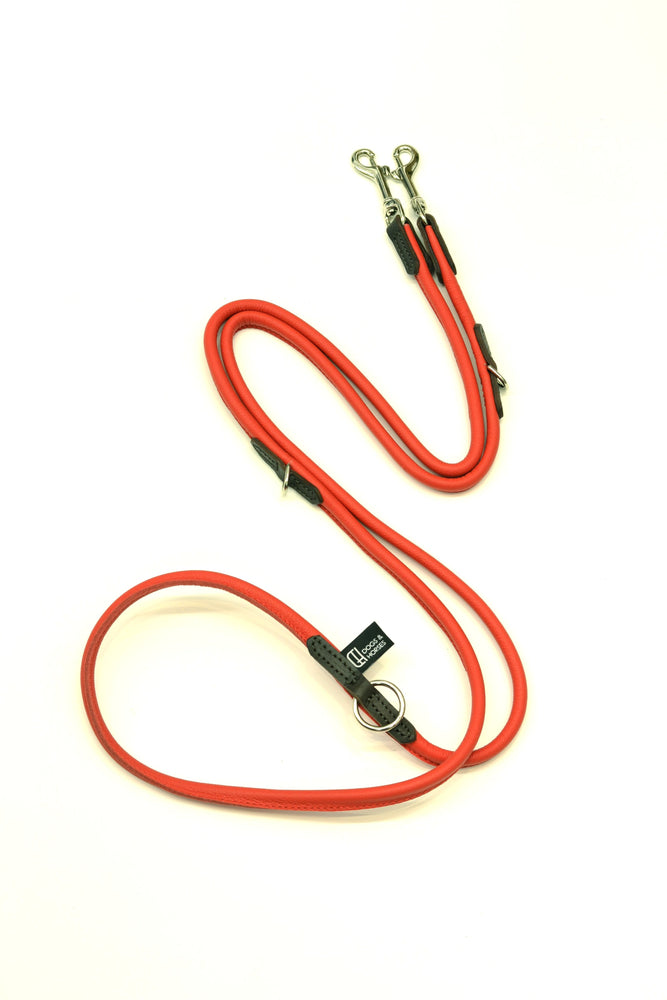 D&H Rolled Leather Multipurpose Dog Lead