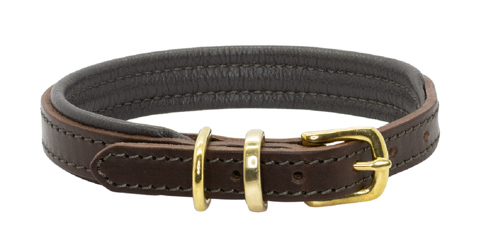 D&H | Padded Leather Dog Collar