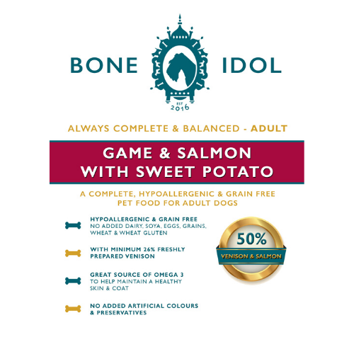 Bone Idol Healthy Dog Food - Game & Salmon with Sweet Potato Adult