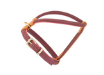 Merlot / Burgundy D&H Rolled Leather Dog Harness
