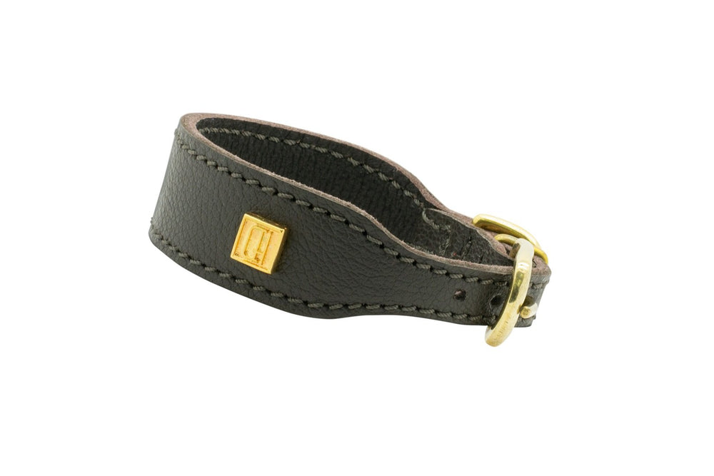 Brown D&H Leather Italian Greyhound Collar