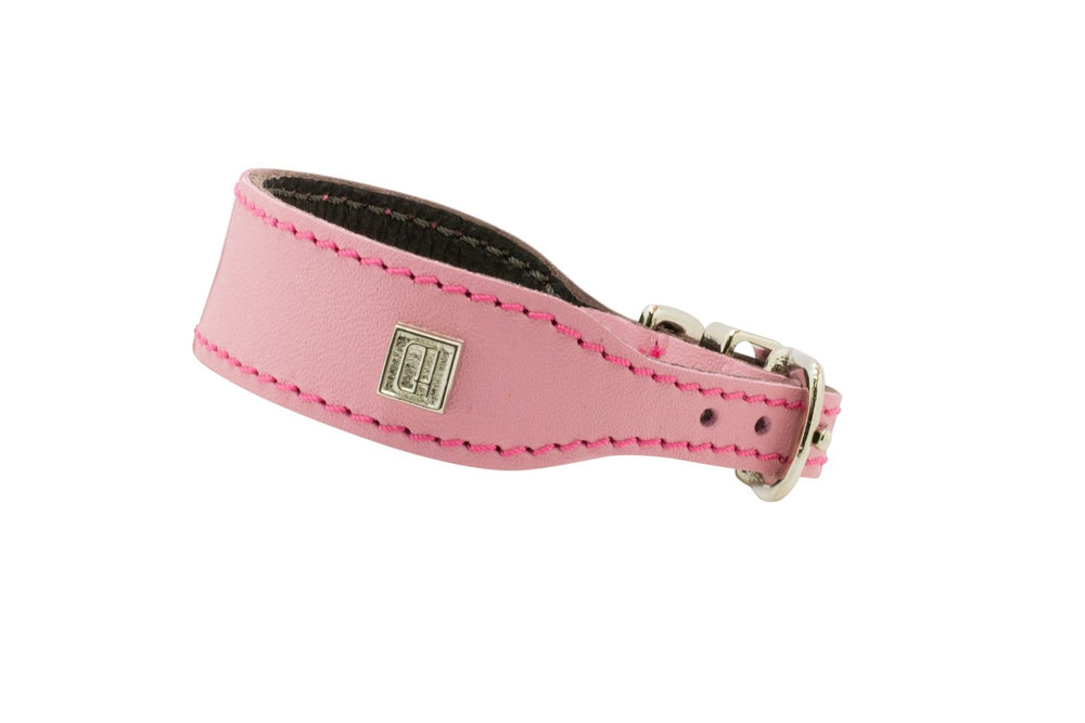 Pink D&H Leather Italian Greyhound Collar
