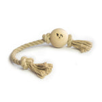Smug Mutts Knot Put Natural Dog Toy, Hemp Rope Beech Ball Available at Bone Idol