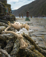 Harbour Picture of Smug Mutts Knot Put Natural Dog Toy, Hemp Rope Beech Ball Available at Bone Idol