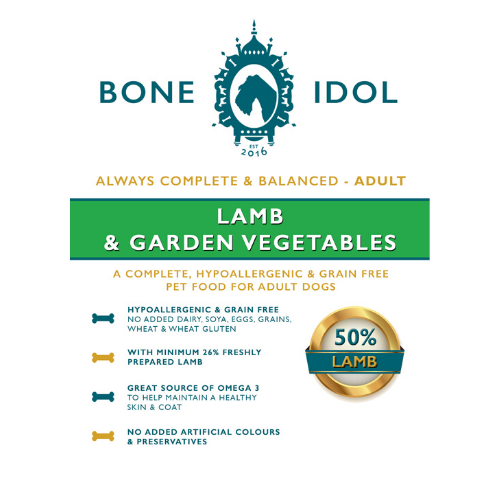 Bone Idol Healthy Dog Food - Lamb and Garden Vegetables