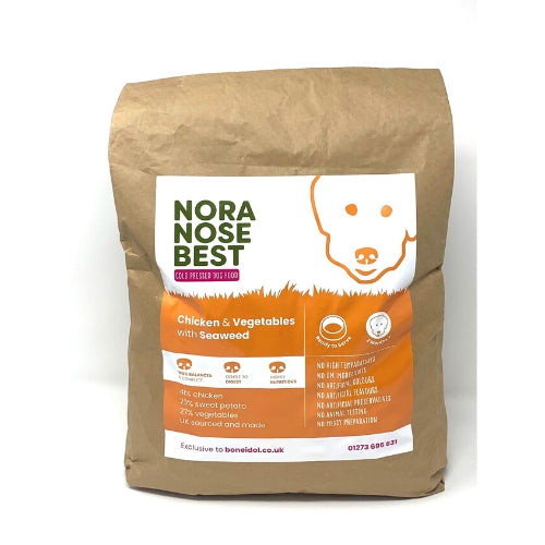 Nora Nose Best Cold Pressed Dog Food, Chicken, Seaweed, Sweet Potato, Healthy Dog Food, Bag of Dog Food, Quality Dog Food