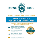 Bone Idol Healthy Dog Food - Pork & Garden Vegetables with Apple Adult