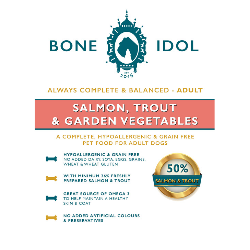 Bone Idol Healthy Dog Food - Salmon, Trout & Garden Vegetables Adult