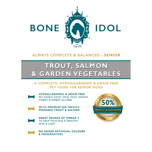 Bone Idol Healthy Dog Food - Trout, Salmon & Garden Vegetables Senior