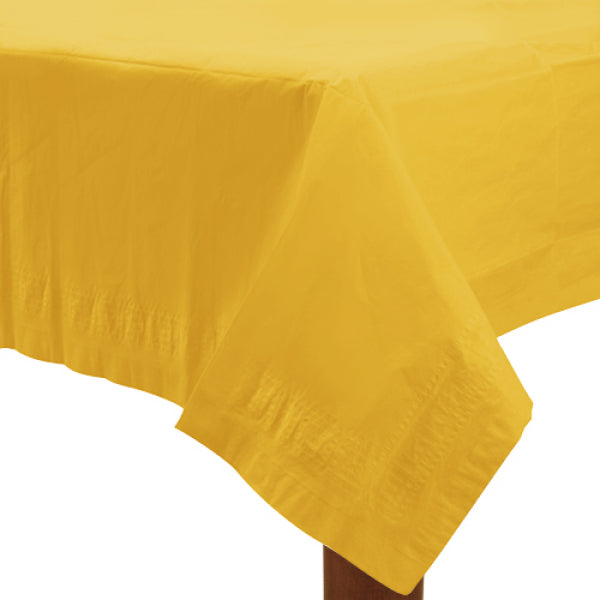 Sunshine Yellow Paper Tablecover