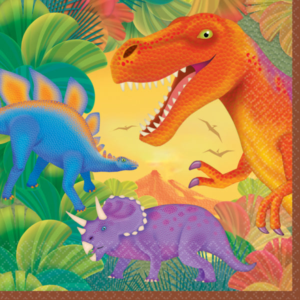 Prehistoric Party Luncheon Napkins