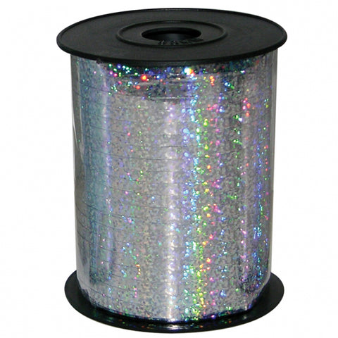 Holographic Silver Ribbon Spool