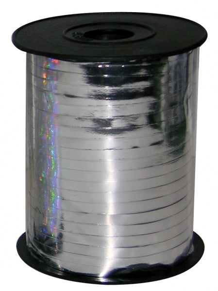 Metallic Silver Ribbon Spool