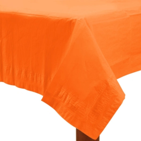 Orange Paper Tablecover