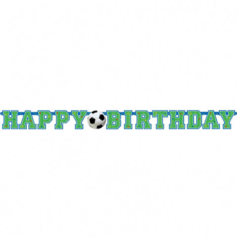 Soccer Illustrated Letter Banner