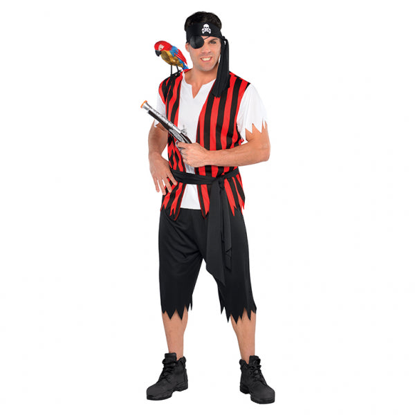 Ahoy Matey Pirate Costume - Size Standard - FiestaPartyStore.com
