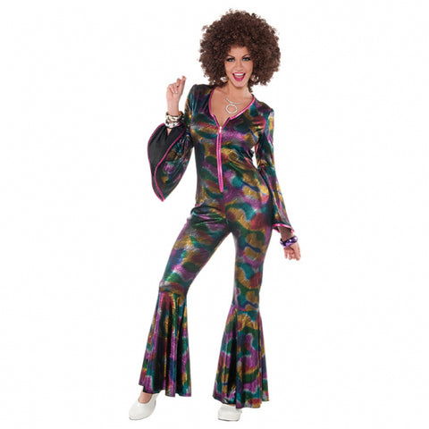 70s Adults Women Disco Pants Suit