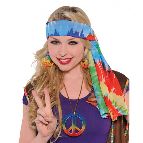 Adults 60`s Hippie Headscarf - FiestaPartyStore.com