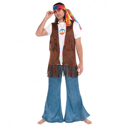 Adults Long Hippie Vest - FiestaPartyStore.com