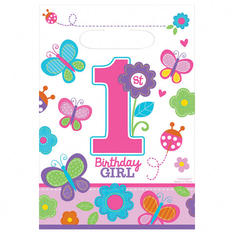 Sweet Birthday Girl Plastic Party Bags