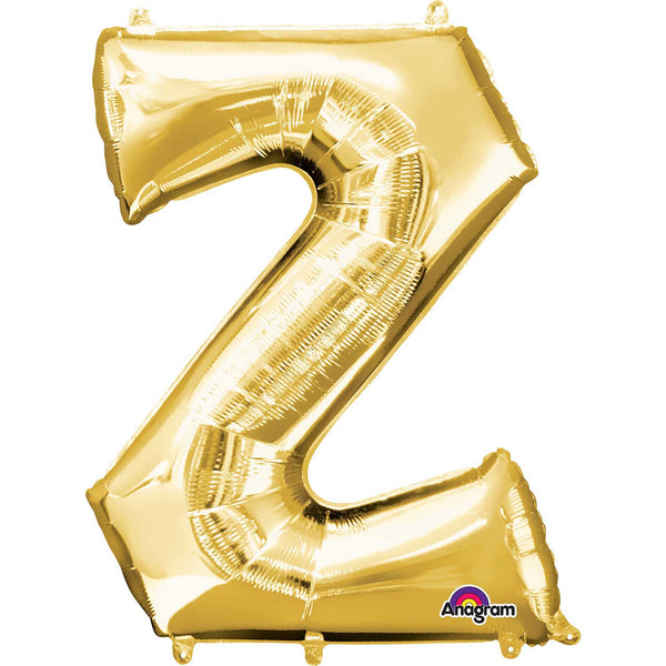 Letter Z Supershape Gold Foil Balloon