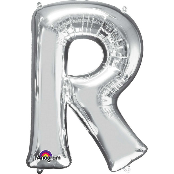 R Supershape Silver Foil Balloon