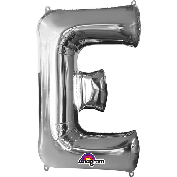 E Supershape Silver Foil Balloon
