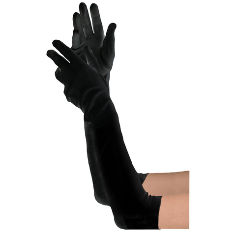 Women's Long Black Gloves